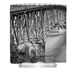 Over The River Shower Curtain by Colleen Coccia
