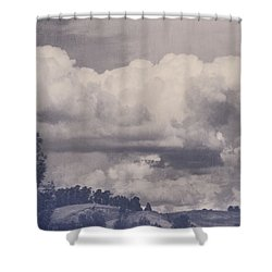 Overwhelmed Shower Curtain by Laurie Search