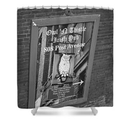 Owl And Thistle Irish Pub Shower Curtain