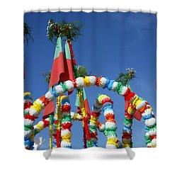 Oxen Cart Decorations Shower Curtain by Gaspar Avila