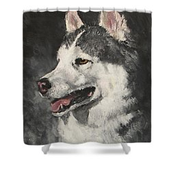 Ozzie Shower Curtain by Jack Skinner