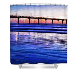 Pacific Blue  Shower Curtain by Steve Taylor