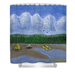 Pacific Northwest Camping Shower Curtain