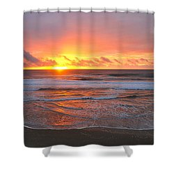 Pacific Sunset Shower Curtain by Eric Tressler