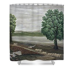 Pack Horse Bridge - Lake District Shower Curtain by Ronald Haber