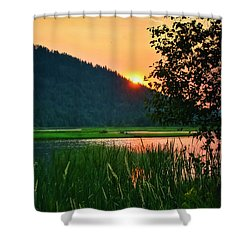 Shower Curtain featuring the photograph Pack River Delta Sunset 2 by Albert Seger