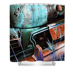 Packard On Ice Shower Curtain by Joe Jake Pratt