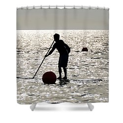 Paddle Boarding Shower Curtain by David Lee Thompson