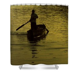 Shower Curtain featuring the photograph Paddle Boy by Lydia Holly