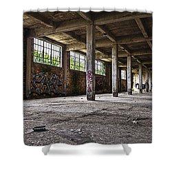 Paint And Concrete Shower Curtain by CJ Schmit