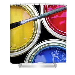 Paint Cans Shower Curtain