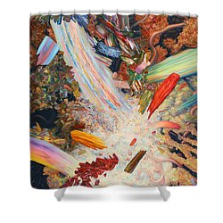 Paint Number 39 Shower Curtain by James W Johnson