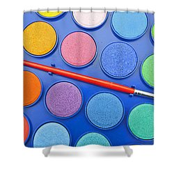 Paintbox Shower Curtain by Joana Kruse