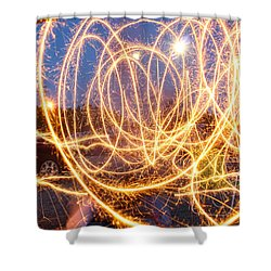 Painting With Sparklers Shower Curtain by Gordon Dean II