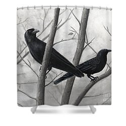 Pair Of Crows Shower Curtain