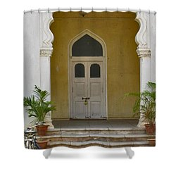 Shower Curtain featuring the photograph Palace Door by David Pantuso