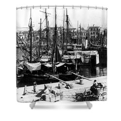 Palermo Sicily - Shipping Scene At The Harbor Shower Curtain by International  Images