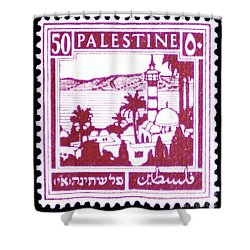 Palestine Vintage Postage Stamp Shower Curtain