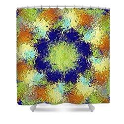 Pallet Of Colors Shower Curtain by Deborah Benoit