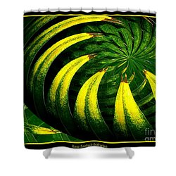 Palm Tree Abstract Shower Curtain by Rose Santuci-Sofranko