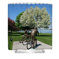 Palmer Park In Spring 2 Shower Curtain