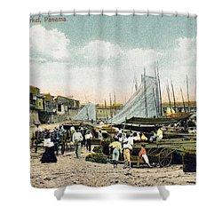 Panama City: Beach Market Shower Curtain by Granger