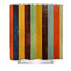 Panel Abstract Lll  Shower Curtain by Michelle Calkins