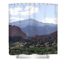 Panoramic Garden Of The Gods Shower Curtain
