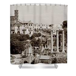 Panoramic View Via Sacra Rome Shower Curtain by Tom Wurl