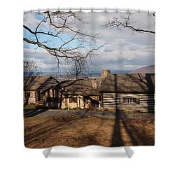 Papa Toms Cabin In The Woods Shower Curtain by Robert Margetts