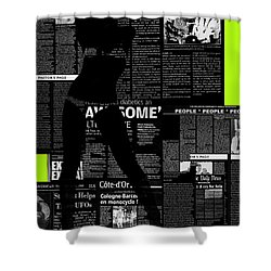 Paper Dance 2 Shower Curtain by Naxart Studio