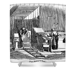 Papermaking, 1833 Shower Curtain by Granger