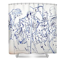 Parable Of The Ten Virgins Shower Curtain by Gloria Ssali