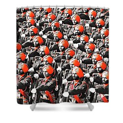 Parade March Indian Army Shower Curtain by Sumit Mehndiratta