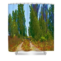 Paradise Road Shower Curtain by Randall Nyhof