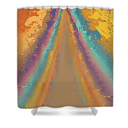 Parameter Space Mountain Shower Curtain by Mark Greenberg