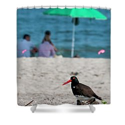 Parenting On A Beach Shower Curtain