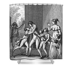 Parents And Children, 1800 Shower Curtain by Granger