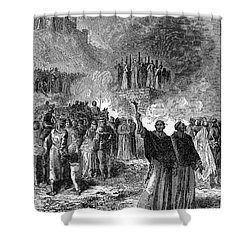 Paris: Burning Of Heretics Shower Curtain by Granger