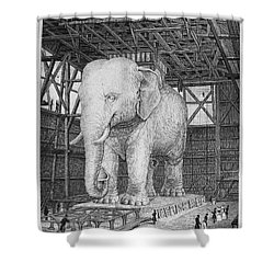 Paris: Elephant Monument Shower Curtain by Granger