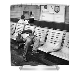 Shower Curtain featuring the photograph Paris Metro by Hugh Smith