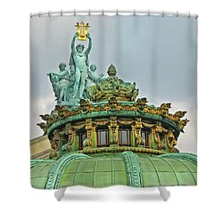 Paris Opera House Roof Shower Curtain