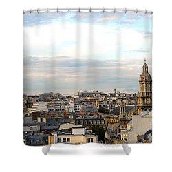 Paris Rooftops Shower Curtain by Elena Elisseeva