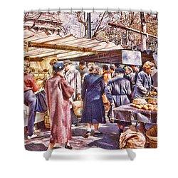 Parisian Market 1954 Shower Curtain