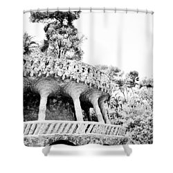 Park Guell Twists Shower Curtain