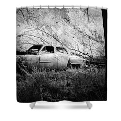 Park In The Trees  Shower Curtain by Empty Wall