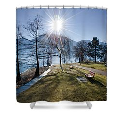 Park On The Lakefront Shower Curtain