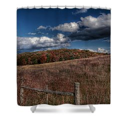 Parkway Fence Shower Curtain by Todd Hostetter