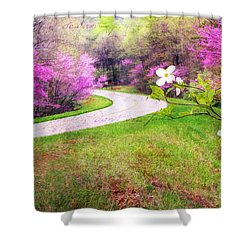 Parkway Kind Of Spring Shower Curtain by Darren Fisher