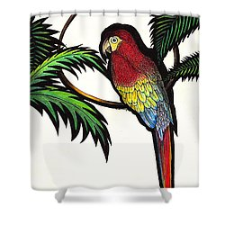 Parrot Shadows Shower Curtain